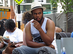 Candid Portrait At Artscape (Multielvi) Tags: street man guy festival md cigarette candid baltimore dude smoking potrait holder artscape 2016 maruland