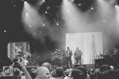 Public Service Broadcasting at Bluedot, Jodrell Bank Discovery Centre in Black & White (tw332) Tags: bw blackwhite bluedot bluedotfestival concert festival jodrellbank jodrellbankdiscoverycentre lights psb publicservicebroadcasting stagelights