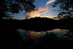 IMG_0096 Crowders Sunset (oldimageshoppe) Tags: sunset crowdersmountainstatepark shortslake latesummer