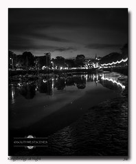 Kingsbridge at Night (jeremy willcocks) Tags: handheld night kingsbridge devon southhams quay boats dark grain lights trees reflection clouds fujix100t blackandwhite mono jeremywillcocks wwwsouthwestscenesmeuk uk