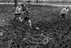 swampions 2016 (usz) Tags: soccer ball football swamp messy muddy piłka błotna czeremcha podlasie polska poland sport action men bw dirty fun