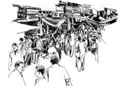 Charcoal street (Thisisanwar) Tags: anwar artist cartoonist illustrator india hyderabad nandyal noonepalli telugucartoonist teluguillustrator telugubomma bapu bali chandra gopi mohan sketchingartist linedrawing sketchbook howtodraw