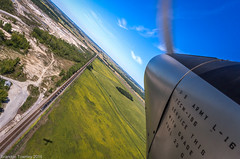 NS Coal Train from an Aeronca L-16 (Brandon Townley) Tags: trains railroad ns norfolksouthern coal l16 aeronca airplane aircraft plane marion ohio aerial wwii usarmy
