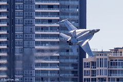 Brisbane Riverfire Rehearsal (Daniel Foster - Aviation Photographer) Tags: military aviation flying pilot brisbane riverfire plane fa18 super hornet fa18f brisbaneriver buildings afterburner fighter jet