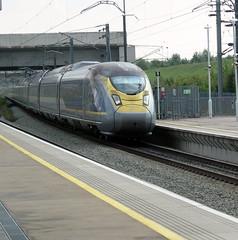 Eurostar Train 9O31 arrives at Ebbsfleet worked by one of the new e320 sets. (DesiroDan) Tags: highspeed1 ebbsfleetinternationalstation eurostar eurostare320 eurostarclass374 class374velaro uktrains ukelectricunits highspeedtrainsintheuk britishrailclass374