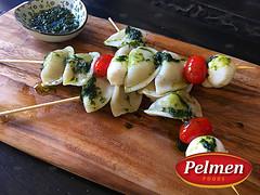 Perogy Skewers (pelmenfoods) Tags: skewers food fingerfood dish recipe easymeal meal perogies pierogies perogy dumplings