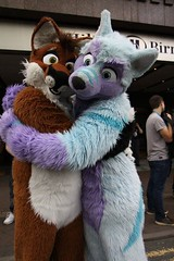 This is WereFox Aries and me :3 He is a deaf fox, since he was born. But that doesn't change anything! He is a great friend and a super cool guy! Because of him and KAHusky I wanted to learn the German Sign Language! Today is the #WorldDeafDay and we shou (Keenora Fluffball) Tags: keenora fursuit furry kee