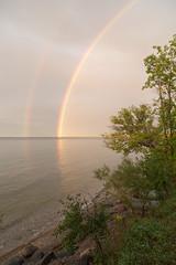 Double rainbow 111 (Les Nagy) Tags: lakesimce rainbow doublerainbow geese 24mmx105mm canon6d
