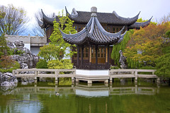 Moon Locking Pavilion (wplynn) Tags: urban house oregon garden portland tea or gazebo pavilion chinesegarden moonlockingpavilion lansuchinesegarden lakezither