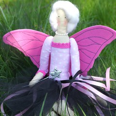 Spring is comming with Merlina - butterfly fairy (harcownia.pl) Tags: pink butterfly fairy blonde tilda butterflyfairy tildas merlinmonroe ilovetilda wingsfortilda tildaaccesories tildafriend