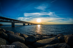 DSC_0703 (grahedphotography) Tags: bridge summer sun water denmark skne nikon sweden nikkor malm sunet resundsbron limhamn resunds