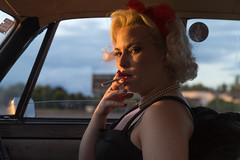 The look (pbkwee) Tags: sunset car warm smoke rover hitchhiking classicsmuseum ppick