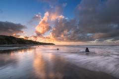 Swimming, Waverley Beach (Nick Twyford) Tags: longexposure newzealand seascape clouds blacksand waves wideangle nz westcoast wanganui taranaki leefilters waverleybeach nikond800 lee09nd lee06gndhard nikkor160350mmf40 solmetageotaggerpro2
