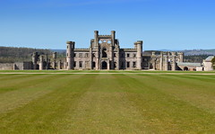 Lowther Castle (Tony Worrall) Tags: county uk england building green castle home face grass stone nice stream tour open place northwest unitedkingdom country north lawn ruin scenic large grand visit scene location historic cumbria area serene ornate northern update cumberland built attraction relic olden stately lowthercastle welovethenorth ©2015tonyworrall
