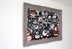 TheFamilyFramed - 03 (Jepeinsdesaliens) Tags: family famille art smile lines illustration painting graffiti design sketch acrylic noir drawing dessin canvas popart frame characters sourire cadre acrylique personnages poscapens poscaart poscadesign