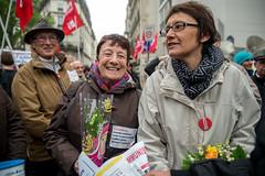 Arlette Laguiller & Nathalie Arthaud (dprezat) Tags: paris contest protest rpublique communisme manifestation internationale d800 proletariat 1ermai ftedutravail arlettelaguiller lutteouvrire nikond800nikon nathaliearthaud