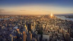 New York City (biancaressl) Tags: city nyc newyorkcity travel sunset usa ny newyork skyline america reisen cityscape sonnenuntergang view aussicht amerika bigapple reise cityview travelphotography reisefotografie travelphotograhy biancaphotos