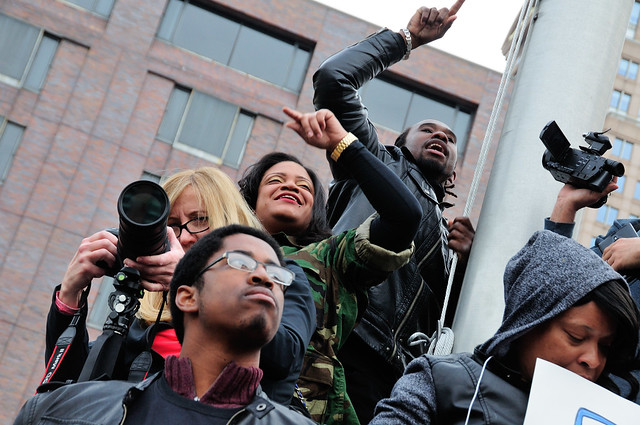 Justice for Freddie Gray: Baltimore Rallies for Justice in the Death of Freddie Gray, Baltimore, Maryland, Saturday, April 25, 2015.