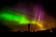 Northern lights 05/13/15 (The PurplePerpetrator) Tags: sky ontario canada nature night photography lights farm aurora northern northernlights borealis nikond7100