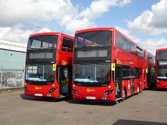 GAL MHV7 BU16OYP - MHV8 BU16OYR - BV BELVEDERE BUS GARAGE - FRI 29TH APRIL 2016 (Bexleybus) Tags: new bus london buses ahead volvo garage go egyptian belvedere hybrid bv mcv goahead bu16oyp mhv7 bu16oyr mhv8