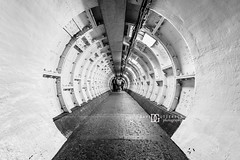 Greenwich Foot Tunnel, London, UK (davidgutierrez.co.uk) Tags: city uk greatbritain travel light england people urban blackandwhite bw white abstract black london art public monochrome beautiful architecture photography lights design blackwhite nikon europe cityscape photographer unitedkingdom britain interior capital greenwich arts engineering tunnel structure symmetry londres londonunderground riverthames londra blackandwhitephotography centrallondon  londyn foottunnel greenwichfoottunnel ultrawideangle    d810 nikond810 1424mm davidgutierrez londonphotographer afsnikkor1424mmf28ged davidgutierrezphotography