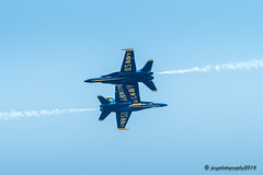 5 & 6 Wing to Wing (pcgphotography) Tags: show blue beach jones us fighter military air jets navy angels f18
