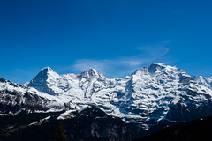 Die Kulisse: Eiger, Mnch, Jungfrau (Steffen Knalltte) Tags: alps schweiz switzerland olympus berge alpen lauterbrunnen eiger omd jungfrau mnch berneroberland em5markii
