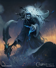 Crowfall - Goddess Yaga, the reaper (JamesGoblin) Tags: crowfall mmo mmorpg pvp game gaming pc voxels vr virtual reality koster sandbox medieval fantasy gameofthrones eveonline eve illustration entertainment fun computers cyberculture online crowdfunding kickstarter games onlinegames videogames voxel proceduralgeneration procedural virtualreality computer rpg poster art multiplayer surreal babayaga yaga goddess gods god reaper conceptart concept posters wallpaper wallpapers sexy female females magic mage witch witches sorceress sorcery blue dark black woman women lady ladies blackmagic hair hairstyle spooky scary threatening blind scythe hand