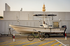 (Dubai Jeffrey) Tags: street bicycle boat dubai minaret mosque abuhail
