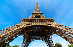 Low angle of The Eiffel Tower (Nithi clicks) Tags: paris france tower angle eiffel