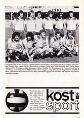 Switzerland vs England - 1981 - Page 49 (The Sky Strikers) Tags: world england cup st schweiz switzerland official basel 150 jakob fr programme offizielles programm qualifier fussballstadion