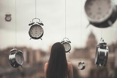 A Place Time Forgot (Adele J Baron) Tags: life city portrait selfportrait paris clock canon photography 50mm time outdoor fineart surreal adventure explore future present lonely create concept conceptual past clocks ticktock windmeup adelebaronphotography adelebaron