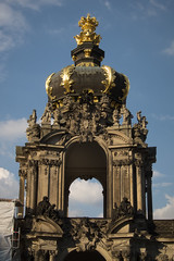 Crowned portal (quinet) Tags: castle germany zwinger schloss chteau 2012 castleroad burgenstrase