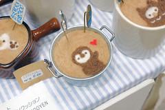 Felt Latte (Design Festa) Tags: art japan japanese penguin tokyo artwork heart felt latte latteart tokyobigsight artfestival japanartfestival japaneseartfestival