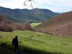 Looking back down on Prato di Campoli (markhorrell) Tags: walking lazio apennines montiernici