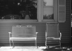 Lonely (m a a x) Tags: film 35mm minolta chairs furniture patio ilford charis