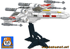 SPACEWARS FIGHTER (baronsat) Tags: rebel star fighter lego large anh xwing wars