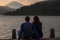 Watching the Sunset. (Ken McManus) Tags: travel japan asia fuji mountfuji hakone 2016