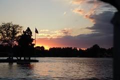 54 (_T_Willi_95) Tags: sunset summer usa lake nature beautiful night canon outdoors boat americanflag edits photograghy lakeorion canont3i rebelt3i