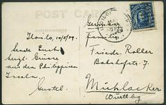 Archiv G010 Philippinische Provinz Iloilo, Postkarte (back) vom 10. Mai 1929 (Hans-Michael Tappen) Tags: 1920s stamps postcard ephemera iloilo 1929 philippinen postkarte handschrift briefmarke poststempel 1920er archivhansmichaeltappen