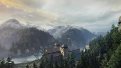 VOEC - 082 (Screenshotgraphy) Tags: bridge sunset sky mountain lake game nature water colors architecture clouds contrast forest montagne landscape soleil pc screenshot gare lumire couleurs country lac ethan steam gaming ciel beaut carter concept nuages paysage vanishing campagne foret beautifull jeu naturelle urbain 1440p