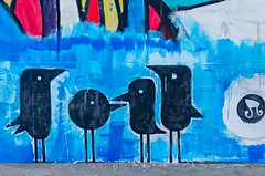 A cute family! (ashik mahmud 1847) Tags: family blue black color texture wall painting design background nikkor bangladesh d5100
