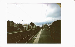 Train Station (Lux Obscura) Tags: train station fujifilm instax mini 90 incident film rainy bertrix belgium