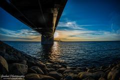 DSC_0704 (grahedphotography) Tags: bridge summer sun water denmark skne nikon sweden nikkor malm sunet resundsbron limhamn resunds