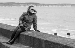 Dr Marten pose. (CWhatPhotos) Tags: pictures camera black leather that four photography coast town foto hole image boots artistic pics dr yorkshire north picture pic olympus images holes resort east have riding coastal prom photographs photograph fotos sole marten which soles dm eight docs contain bridlington bouncing airwair thirds yorks martens patent dms ridings 1460 promanade cwhatphotos