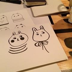 Late night drawing at the #platoon (Andrea Kang) Tags: berlin rabbit bunny bunnies illustration square sketch drawing squareformat platoon iphoneography andreakang instagramapp