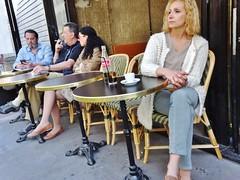 2015-04-19   Paris - 52 faubourg Saint-denis (P.K. - Paris) Tags: street people paris café french terrace candid terrasse sidewalk april avril inparis 2015