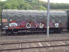 Polux (Hazy_vizionary) Tags: urban art graffiti trains cargo freighttrains graff fret freight sncf fr8 polux benching transwaggon benchingfreights artontrains