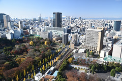   Bunkyo Civic Center Observation Deck (Iyhon Chiu) Tags: city japan skyscraper buildings tokyo view d750  metropolis  observationdeck 2014      bunkyociviccenter bunkyoward