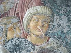 """Histories of Saint Benedict"" (Detail) - Fresco (about 1500-1510) by Antonio Solario, so-called ""lo Zingaro"" (Civita d'Aquino about 1465-Naples 1530) and his followers - Cloister of Saint Severino and Sossio, now State Archives in Naples (Carlo Raso) Tags: italy naples fresco zingaro antoniosolario"